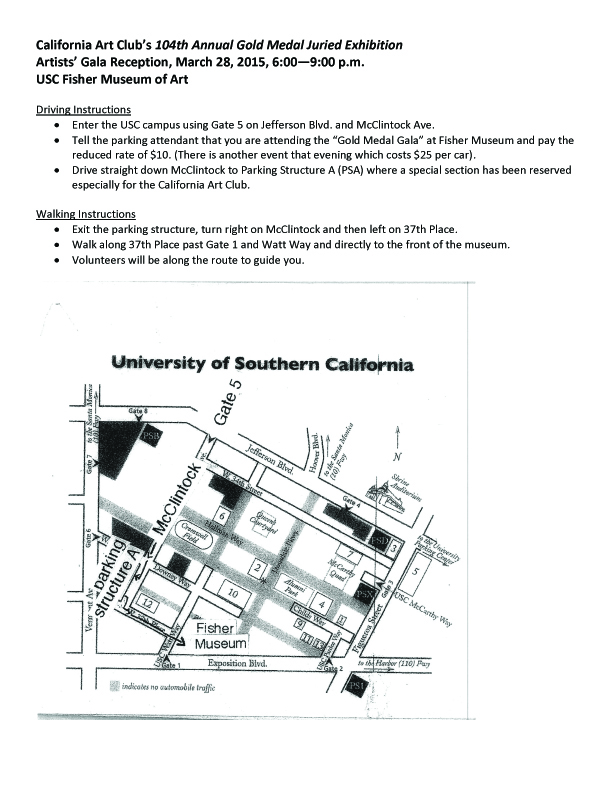 Fisher Museum directions--March 28 copy