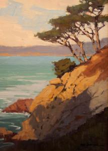 "Mark Farina, ""Pt. Lobos Pines"", Oil on linen, 12"" x 9"""